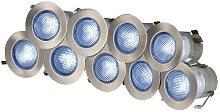 Knightsbridge Blue LED Kit, IP65 230V 10x 0.2w