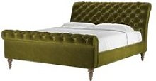 Knightsbridge Super King Bed in Olive Cotton Matt