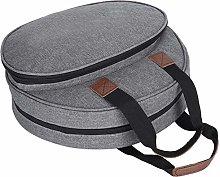 Knitting Tool Storage Bag, Circular Design Gray