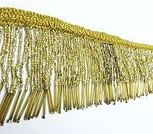 Knitwit Gold Beaded Fringe Decorative Upholstery