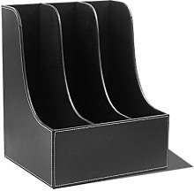 KNJF Magazine Storage Rack PU Leather File Folder