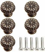 Knob Pull Antique Bras Round Jewelry Box Handle
