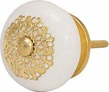 Knober Furniture Knobs Elegant Ceramic White