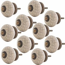 Knober Furniture Knobs Marbled Ceramic Porcelain