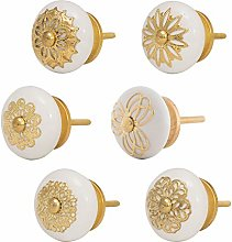 Knober Furniture Knobs Stainless Ceramic White