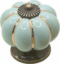 Knobs & Handles 2Pcs 40Mm Ceramic Pumpkin Handle
