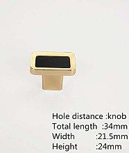 Knobs Handles Doors 2Pcs Luxury Gold Cabinet