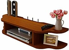 Knoijijuo 2 Tier Modern Wall Mounted Media Console