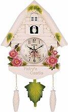 Knoijijuo Cuckoo Clock Show Wall Clock Bird Cuckoo