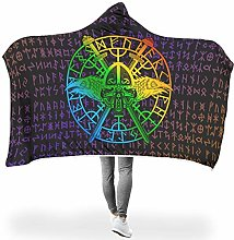 Knowikonwn Large Hoodies Blanket Viking Tattoo