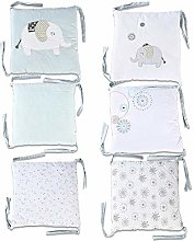 Knowled 6pieces/set Baby Cotton Head Guard Padded