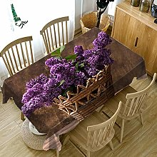 KnSam Kitchen Tablecloth, Table Cloth Purple,