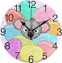 Koala with Eggs Round Wall Clock, Silent