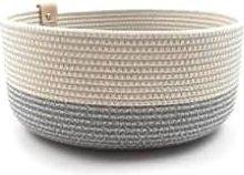 Koba Handmade - Koba Bowl High Basket L Pastel Gray