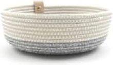 Koba Handmade - Koba Bowl Low Basket S Pastel Gray
