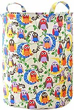 Kobay Cute cotton and linen laundry storage basket