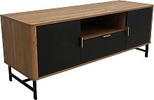Koble Scandi 2 Door 1 Drawer Smart TV Unit - Walnut