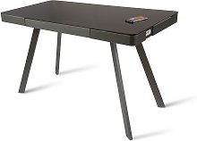 Koble Silas Wireless Charging Glass Desk - Charcoal