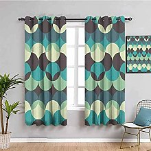 KOEWSN Kids Bedroom Curtains - Abstract Green