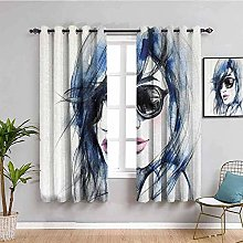 KOEWSN Kids Bedroom Curtains - Abstract Painting