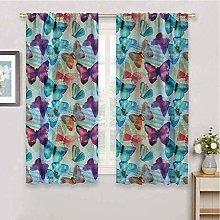 KOEWSN Kids Bedroom Curtains - Blue Purple Oil