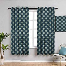 KOEWSN Kids Bedroom Curtains - Bohemia Gray-Green