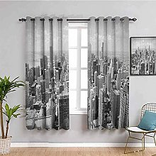 KOEWSN Kids Bedroom Curtains - Gray Architecture