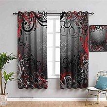 KOEWSN Kids Bedroom Curtains - Gray Art Abstract