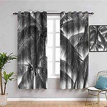 KOEWSN Kids Bedroom Curtains - Gray Trees Palm