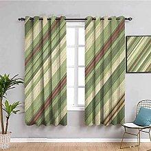 KOEWSN Kids Bedroom Curtains - Green Abstract Art