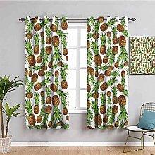 KOEWSN Kids Bedroom Curtains - Green Fruit