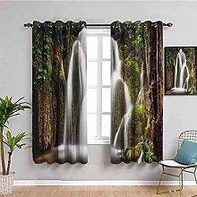 KOEWSN Kids Bedroom Curtains - Green Jungle