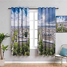 KOEWSN Kids Bedroom Curtains - Green Tree City