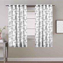 KOEWSN Kids Bedroom Curtains - Kitchen Gray