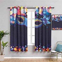 KOEWSN Kids Bedroom Curtains - Magic Purple Art