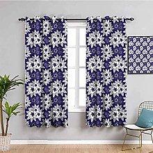 KOEWSN Kids Bedroom Curtains - Purple Art Flower