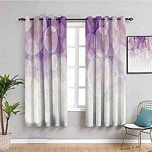 KOEWSN Kids Bedroom Curtains - Purple Gradient