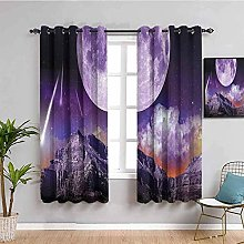 KOEWSN Kids Bedroom Curtains - Purple Moon