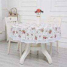 Kokomimi Round Lace Tablecloth Wipe Clean Water