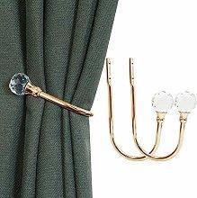 KOLAKO Curtain Holdbacks, Curtain Tieback Hooks
