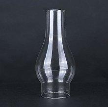 KOLIT Clear Glass Oil Lamp Shade, Glass Chimney