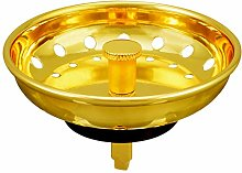 KONE Sink Strainer Basket Gold Kitchen Sink Drain