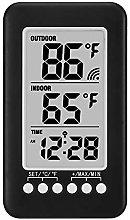 Konesky Digital Alarm Clock with Indoor Outdoor