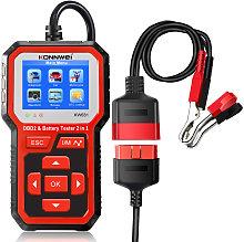 KONNWEI KW681 Car&Motrocycle Battery Tester &