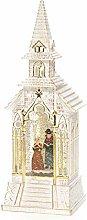 Konstsmide LED Snow Globe Church with Choir Scene,