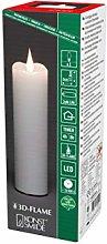 Konstsmide Slim Battery Candles, Wax, White
