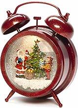 Konstsmide Snow Globe Alarm Clock with Santa and