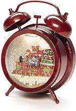 Konstsmide Snow Globe Alarm Clock with Train
