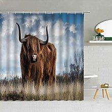 KONZFK Shower curtainWashable Cow Shower Curtain,