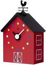 KOOKOO RedBarn Large, farmhouse clock with 12